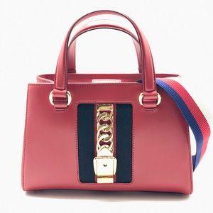 Gucci Sylvie Web leather crossbody shoulder bag